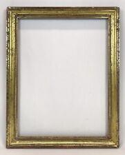 Antique Mid 19th C Lemon Gold Gilt Frame 14 x 18 Opening