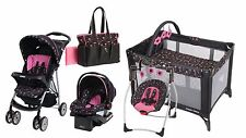 Baby Stroller Car Seat Infant Toddler Playard  Swing Diaper Bag Travel Set Combo
