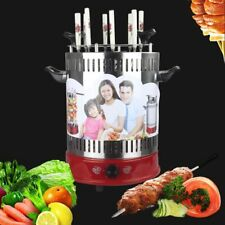Automatic Rotation Table Electric Grill Vertical Barbecue Grill 8 Grill Spitters