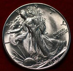 Uncirculated 1946-S San Francisco Mint Silver Walking Liberty Half