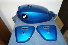 HONDA CL 450 GAS FUEL TANK AND LEFT RIGHT SIDE COVER BODY SET 1968 REPAINTED