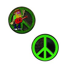 Hippie Geocoin For Geocaching