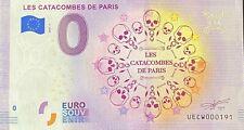BILLET 0 EURO LES CATACOMBES DE PARIS FRANCE 2020 NUMERO DIVERS