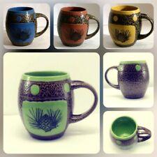 """Alway Azul Pottery"" Set of 4 Colorado Mugs (Oven Safe) Tea Cups No Spoons"