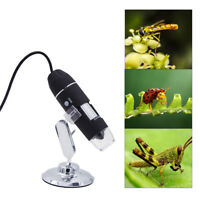1000X8 LED USB 2.0 Digital Microscope Endoscope Zoom Camera Magnifier+Stand ve