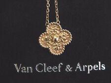"""Van Cleef & Arpels 18Kt Vintage Alhambra Rose Gold Pendant 16"""""""