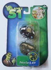 JAZWARES PLANET 51 : Police Car & ATV Mini Vehicle New