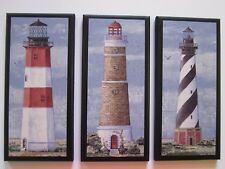 Lighthouses wall decor signs nautical plaques coastal lighthouse pictures ocean