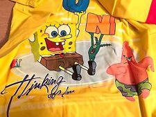 New Nickelodeon Sponge Bob Patrick Rain Coat Large 5/6 Toddler Plastic 100% PVC