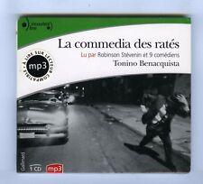 TONINO BENACQUISTA LA COMMEDIA DES RATES CD AUDIO LIVRE (NEUF) ROBINSON STEVENIN
