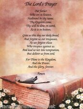 THE LORD'S  PRAYER on Bible Art Background GREAT Gift Idea **L@@K**