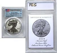 2019 S $1 Enhanced Reverse Proof Silver Eagle PCGS PF69 FS W/COA - Rare Mintage!