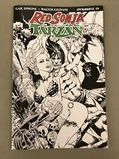 RED SONJA/TARZAN 1 JETPACK COMICS JIM BALENT EXCLUSIVE BLACK AND WHITE VARIANT