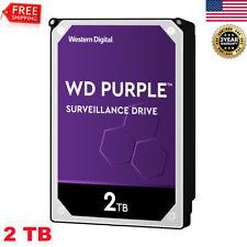 Western Digital WD Purple SATAlll 2TB Surveillance Hard Disk Drive 6Gb/s 64MB US