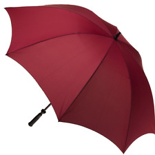 CLIFTON Umbrella - Mens Fairway Large Cover Golf Umbrella - Burgundy