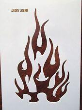 Flames Fire Stencil Reusable 10 mil Mylar Stencil