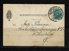 Denmark - 1899 Letter Card (Entire) - Used - Moderate Delamination - 091717