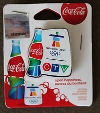 CTV   AUTHENTIC Coca cola  Vancouver 2010  Olympic PIN NEW