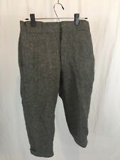 Vtg Woolrich Hunting Trousers Knickers Wool Size 30 Pants 1902 Wool Blend Gray