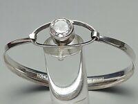 Erik Granit Finnland 925 Silber Armspange Armreif großer Bergkristall 80th /A692
