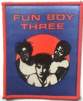 FUN BOY THREE (3) Old OG Vtg 1980`s Printed Patch Sew On(NOT shirt pin badge)