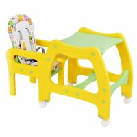 3-in-1 Baby High Chair Convertible Play Table