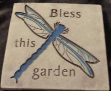 Cute Momentum Brand Molded Garden Wall Plaque - Bless - Vgc - Pretty Plaque