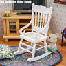 Wooden White Rocking Chair 1:12 Furniture Miniature Living Room Dollhouse Decor