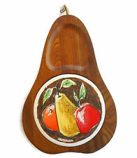FRED PRESS Pear Shaped FRUIT CHEESE BOARD TRAY Retro MID CENTURY Hanging Art