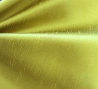 """CHARTREUSE GREEN Faux Silk TAFFETA fat 1//4 18/""""x27/"""" remnant"""