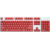 Max Keyboard ANSI 104-key Cherry MX Replacement Keycap Set 6.0x (Red / Blank)