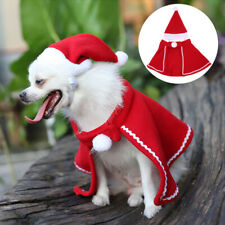 Pet Cat Dog Halloween Christmas Costume Red Cloak Cape Shawl Coat With Hat