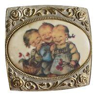 Vintage Farrington Footed Jewelry Box Ornate Trinket Box Japan