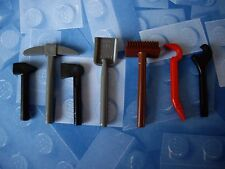 Lego-City-Outils-Pelle, Pioche, hache, clé, marteau, balai et CROWBAR