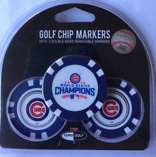 World Series Chicago Cubs 3 Pack Poker Chips with removable Golf Ball Markers