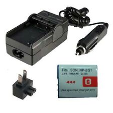 Battery&Charger for SONY Cyber-shot DSC-W120 DSC-W120/L DSC-W170 Digital Camera