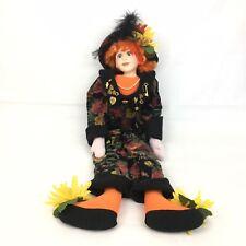 Ooak Julia Rueger Original Artist Fall Theme 30� Boudoir Sitting Doll
