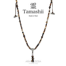NECKLACE ORIGINAL TIBETAN TAMASHII MUDRA LACE BROWN NHS1500-94