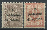 Trento e Trieste 1919 Sass. 1-2 Nuovo ** 60% 1 c. su 1 c.,  2 c. su 2 cent