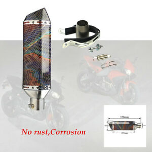 Cross-country Motorcycle Exhaust Muffler Pipe 38-51mm Modified Parts with screws