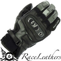 RICHA SHELL CAMO URBAN LEATHER & SOFTSHELL WATERPROOF MOTORCYCLE MOTORBIKE GLOVE