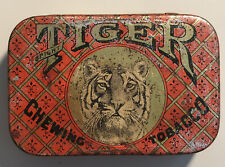 Vintage Antique Bright Tiger Chewing Tobacco Pocket Tin *Rare*