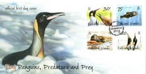 FALKLAND ISLANDS 2014 PENGUINS PREDATORS AND PREY (3RD SERIES)  FDC PORT STANLEY