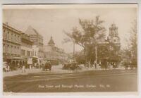 South Africa postcard - Pine Street and Borough Market, Durban - RP - P/U (A19)