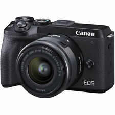 Canon EOS M6 Mark II (Black) + EF-M 15-45mm F3.5-6.3 IS STM  **OPEN BOX**