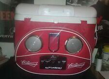 Budweiser Icy Tunes 40 QT Igloo Cooler RARE!!