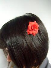 Petite fleur pivoine rouge pince clip à cheveux rétro pinup coiffure original