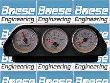 "2 1/16"" Auto Meter Universal Triple Mount Dash Pod 3 Three Gauge 5288 ABS Black"