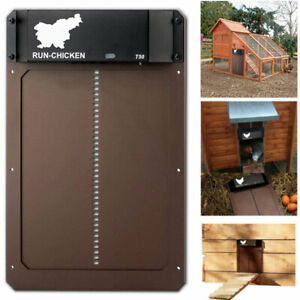 Automatic Chicken Coop Door Waterproof Poultry Gate with Light Sensing Timer