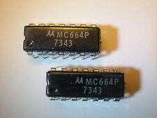 ( 2 PC.) MOTOROLA MC664P IC 14 PIN DIP PACKAGE